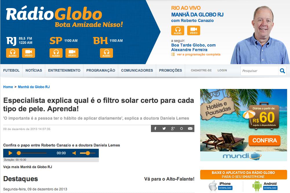 Manha-da-Globo-Radio-Globo-Especialista-explica-qual-e-o-filtro-solar-certo-para-cada-tipo-de-pele-