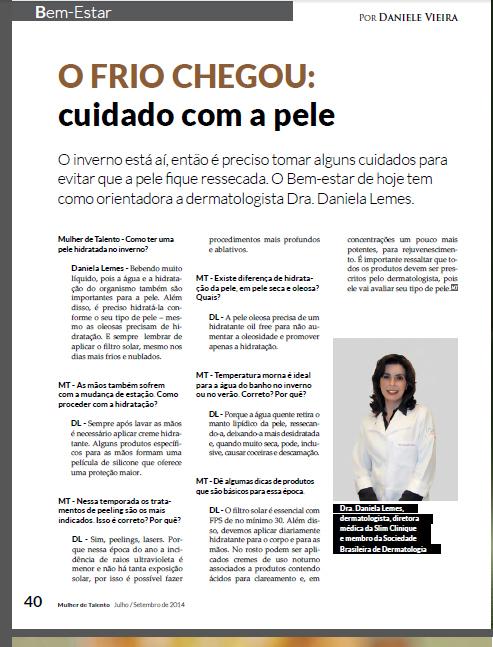 Chegou o frio | Dra. Daniela Lemes